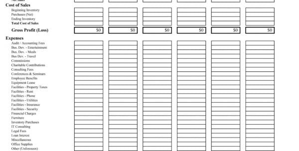 Weekly Profit And Loss Template Excel1 Profit Loss Spreadsheet - profit and loss statement template free