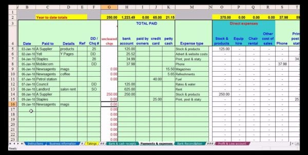 Free Printable Spreadsheet Simple Income Statement Template Income