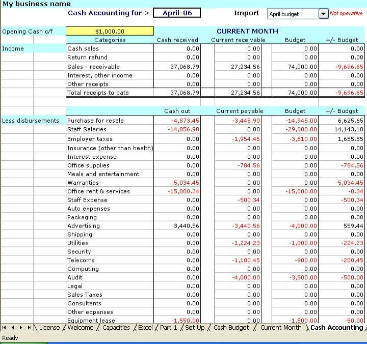Microsoft Excel Bookkeeping Templates Excel Accounting Templates - ms excel for accounting