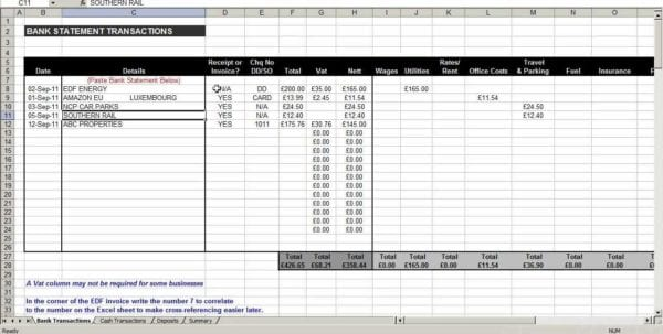 Small Business Expense Spreadsheet Template Business Expenses