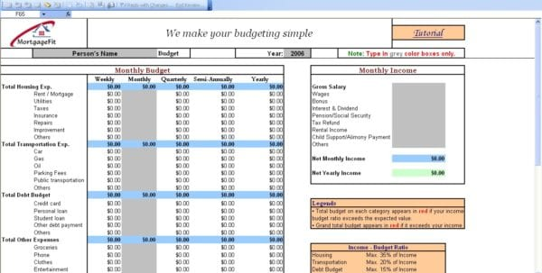 Budget Tools Free Download Budgeting Tool Excel Budget Spreadshee