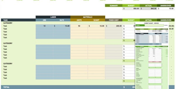 Business Expense Worksheet Expense Template For Small Business