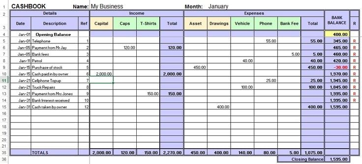 Excel Accounting Template For Small Business Small Business