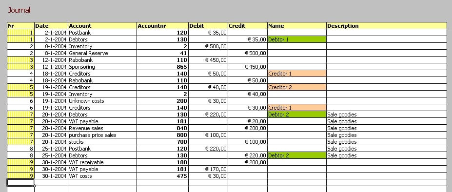 Excel Spreadsheet For Accounting Of Small Business Bookkeeping Excel