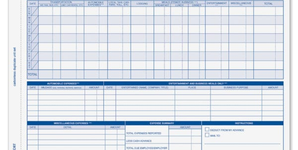 Expense Report Form Excel Office Expense Report Spreadsheet