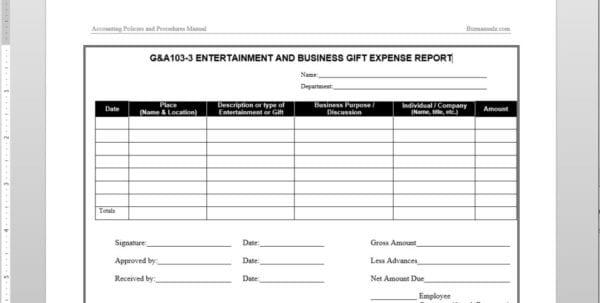 Expense Report Pdf Microsoft Expense Report Template Spreadsheet