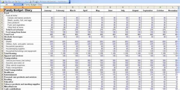Personal Budget Software Personal Budget Finance Budget Spreadshee - budget calculator template