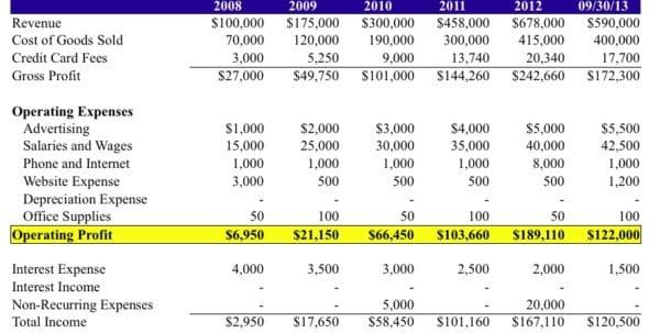 Quarterly Income Statement Example Quarterly Income Statement - quarterly performance review template