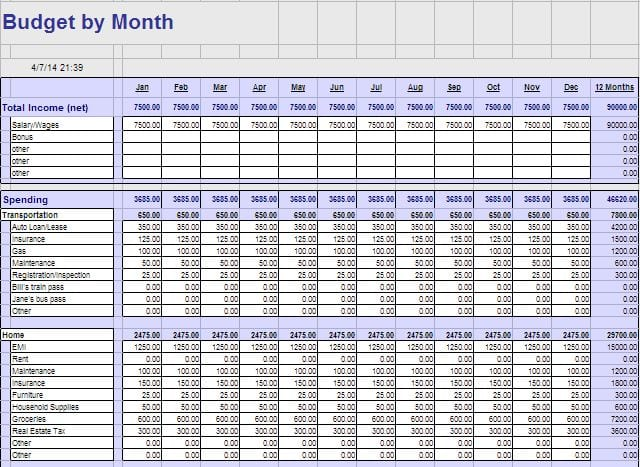 Simple Budget Template 1 Budget Tracking Spreadsheet Template Budget - weekly personal budget template