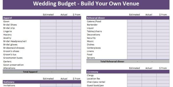 Simple Budget Template Excel Budgeting Tool Excel Budget Spreadshee
