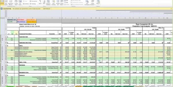 Labor Estimate Template Estimate Spreadsheet Template Spreadsheet
