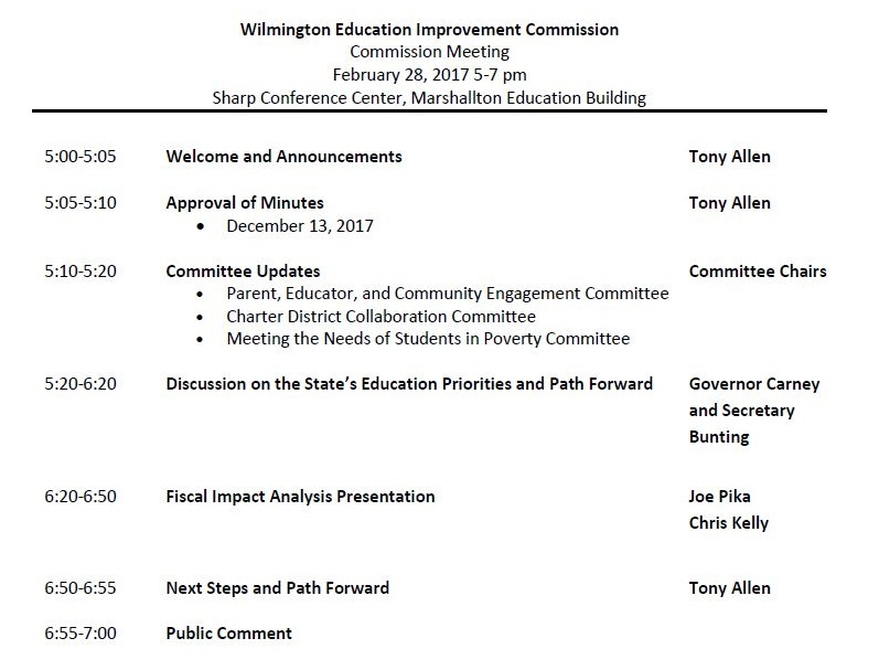 Governor Carney  Secretary Bunting Will Be At Big WEIC Meeting Next - collaboration meeting agenda