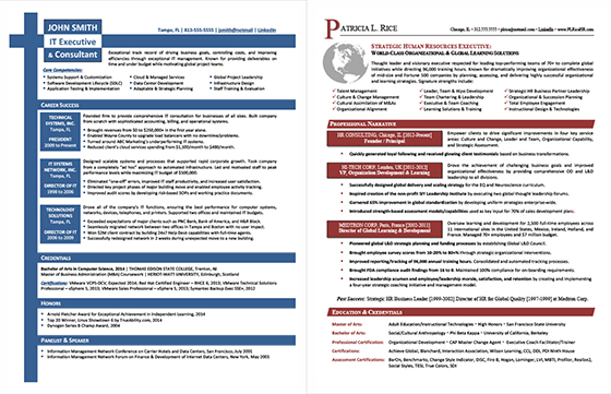 Networking Resumes Executive Resume Services