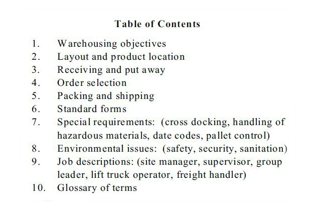 MultiBrief Why and how to prepare a warehouse operations manual - warehouse manager job description