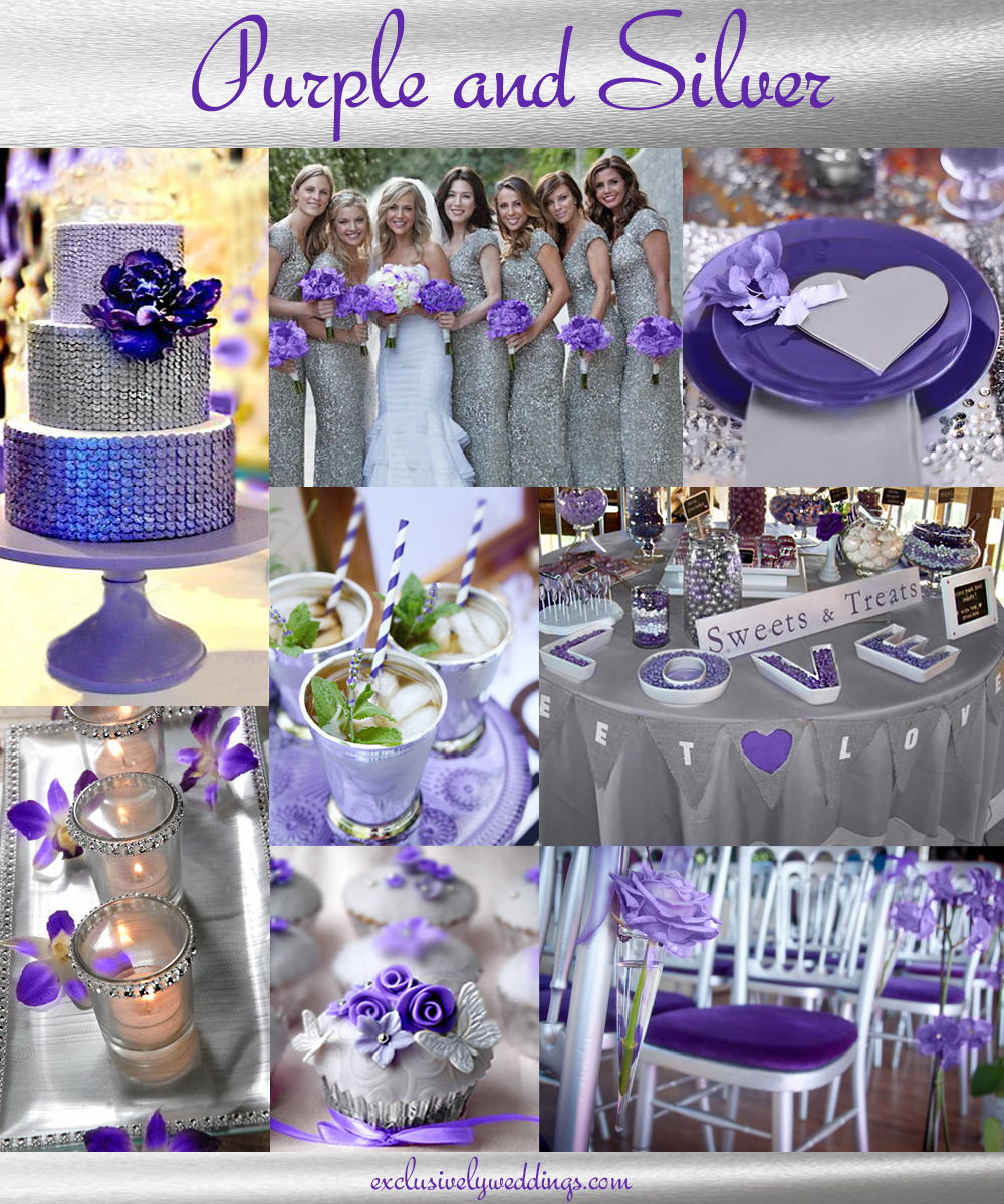purple wedding color combination options purple and gold wedding Purple and Silver Wedding Colors Purple and Silver Wedding Colors