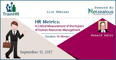HR Metrics A Critical Measurement of the Impact of Human Resources - hr metrics