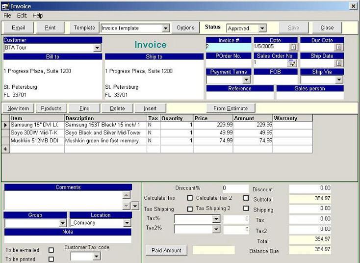 New Invoice Golden Inventory System