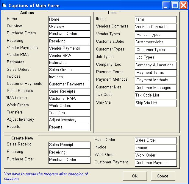 Main form Golden Inventory System - how to create an inventory database
