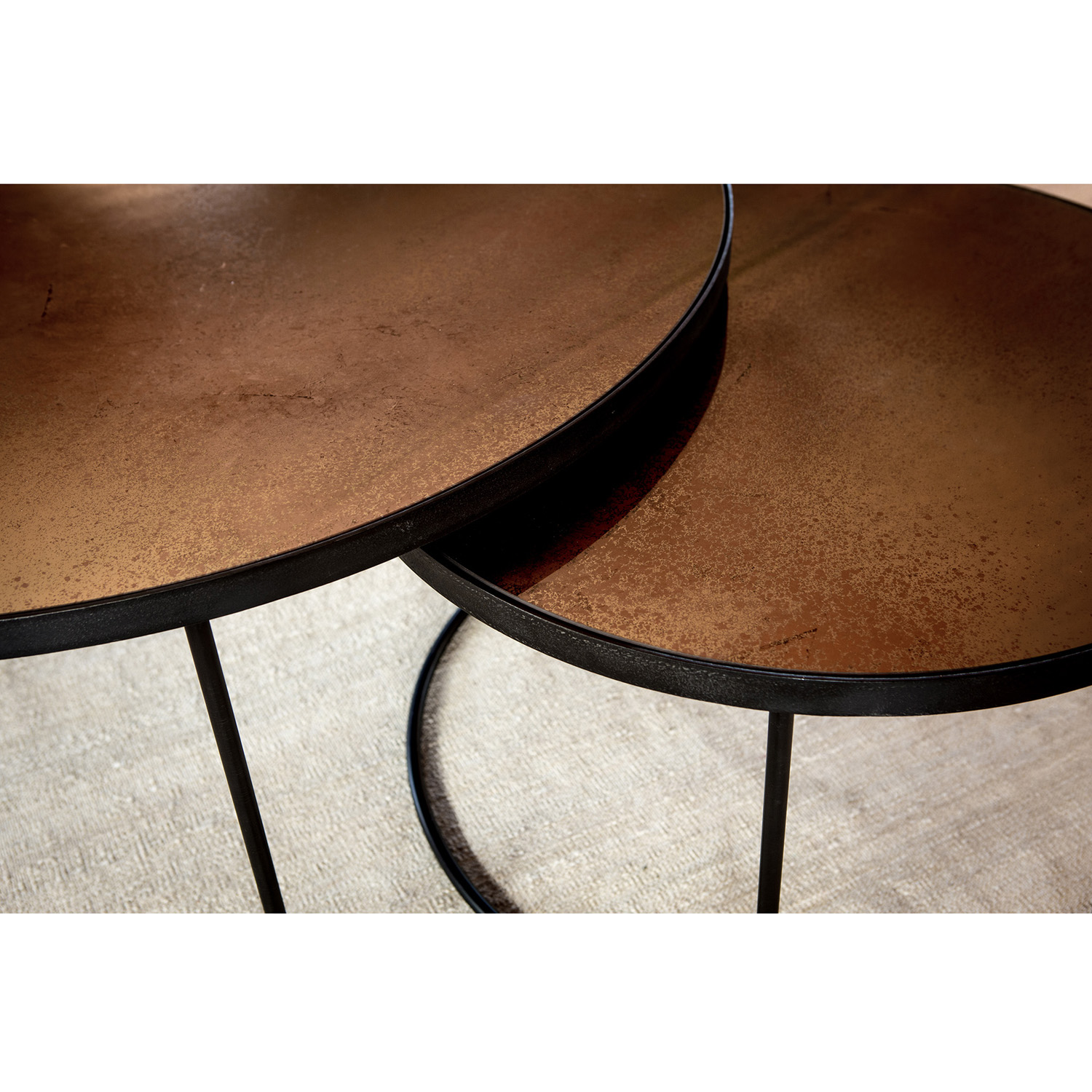 Couchtisch Set Bronze Copper 20700