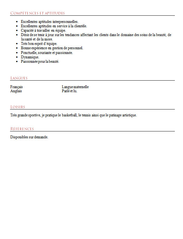 competences interpersonnelles cv