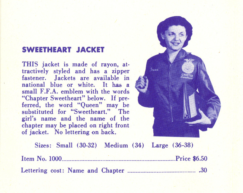 Sweetheart Jackets · FFA Fashion Show · Special Collections at