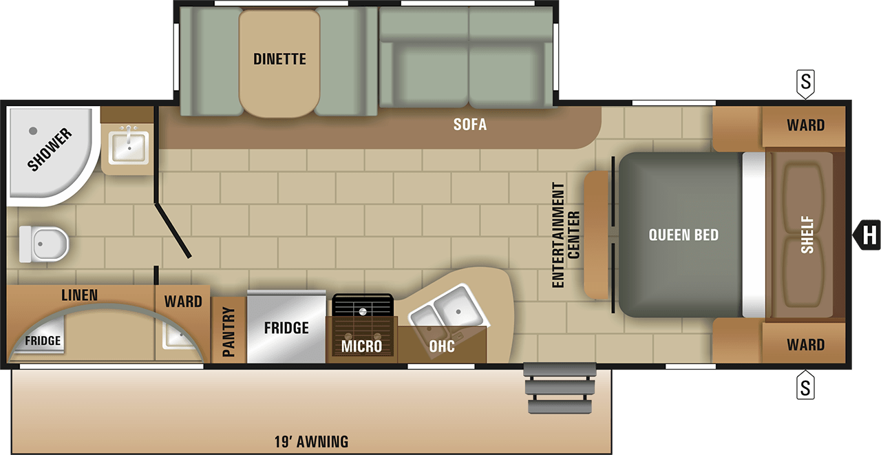 2018 Kodiak Travel Trailers Floor Plans 2018 Starcraft Launch Ultra Lite 25rbs Fall Clearance Special