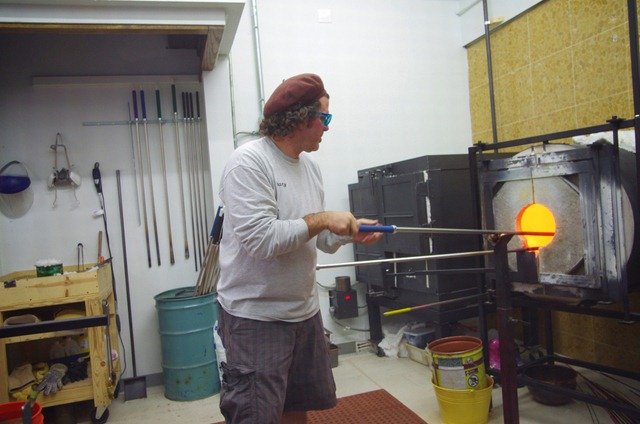 Glass blower, Estes Park, Colorado, Sept. 15, 2011