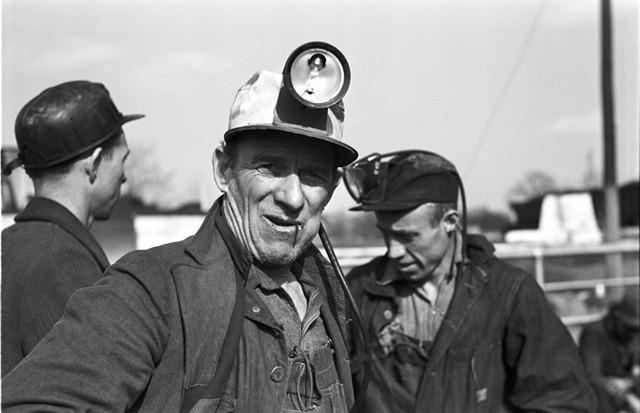 Coal miners, Birmingham, Alabama; photo by Arthur Rothstein