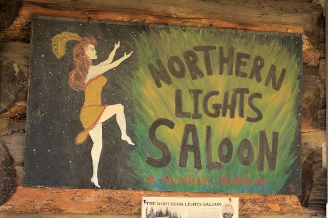 Northern Lights Saloon, Pole Bridge, near Glacier National Park, Montana, August 28, 2014
