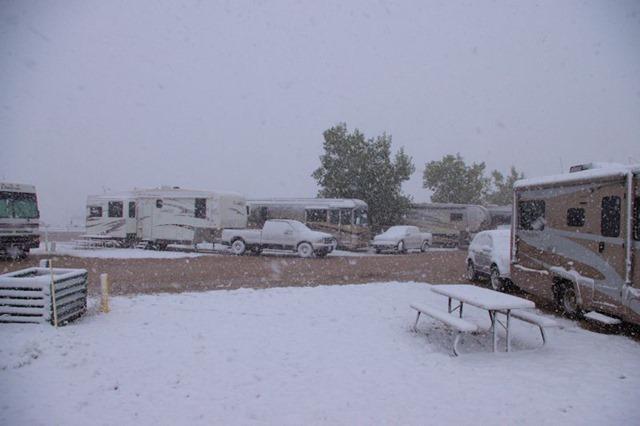 Early winter storm in Bar Nunn, Wyoming (near Casper), September 11, 2014