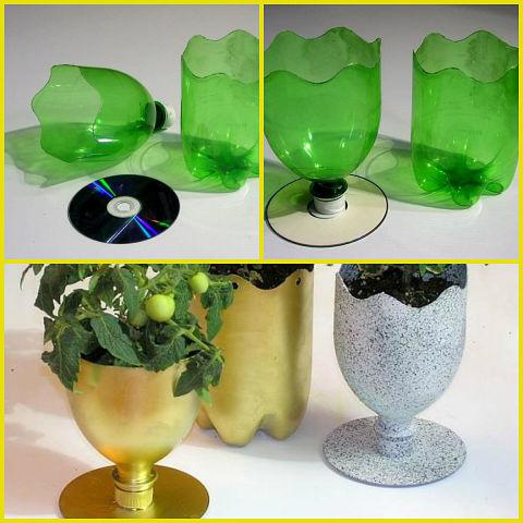 Посуда из пластиковой бутылки своими руками