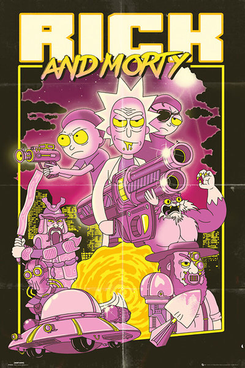 Bilder Poster Kaufen Rick And Morty Action Movie Poster