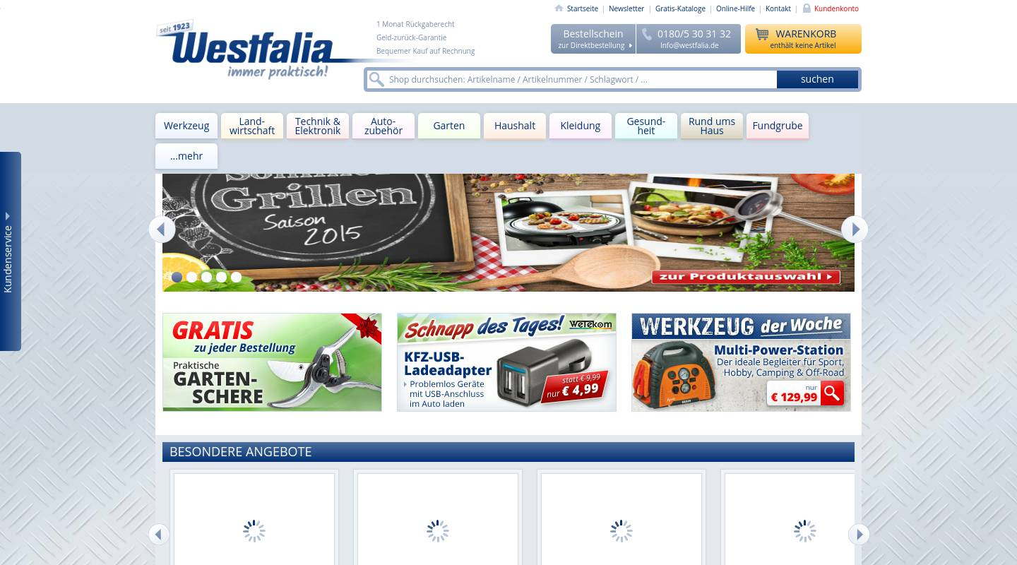 Gartengestaltung+online Tool Westfalia Germany Mail Order Specialist For Tools
