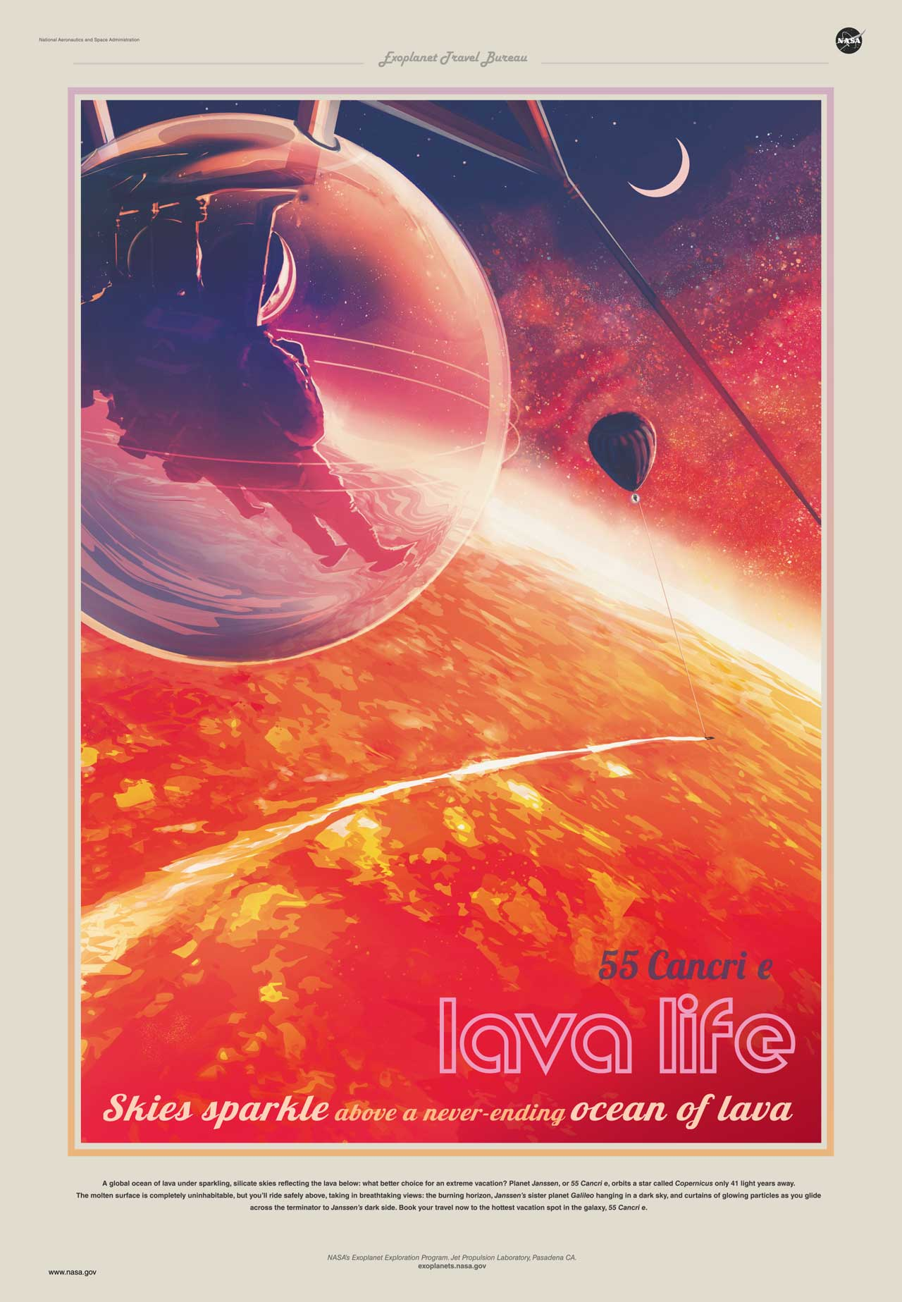 Poster Red Tour 55 Cancri E In 360 Degrees Get The Travel Poster And More