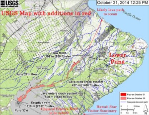 "Pahoa Lava Flow ""Why is this all happening"" Article, 1 of 2… ""Seven Volcanoes In Six Different Countries All Start Erupting Within Hours Of Each Other"" USGS-Map-Annotated-300x231"