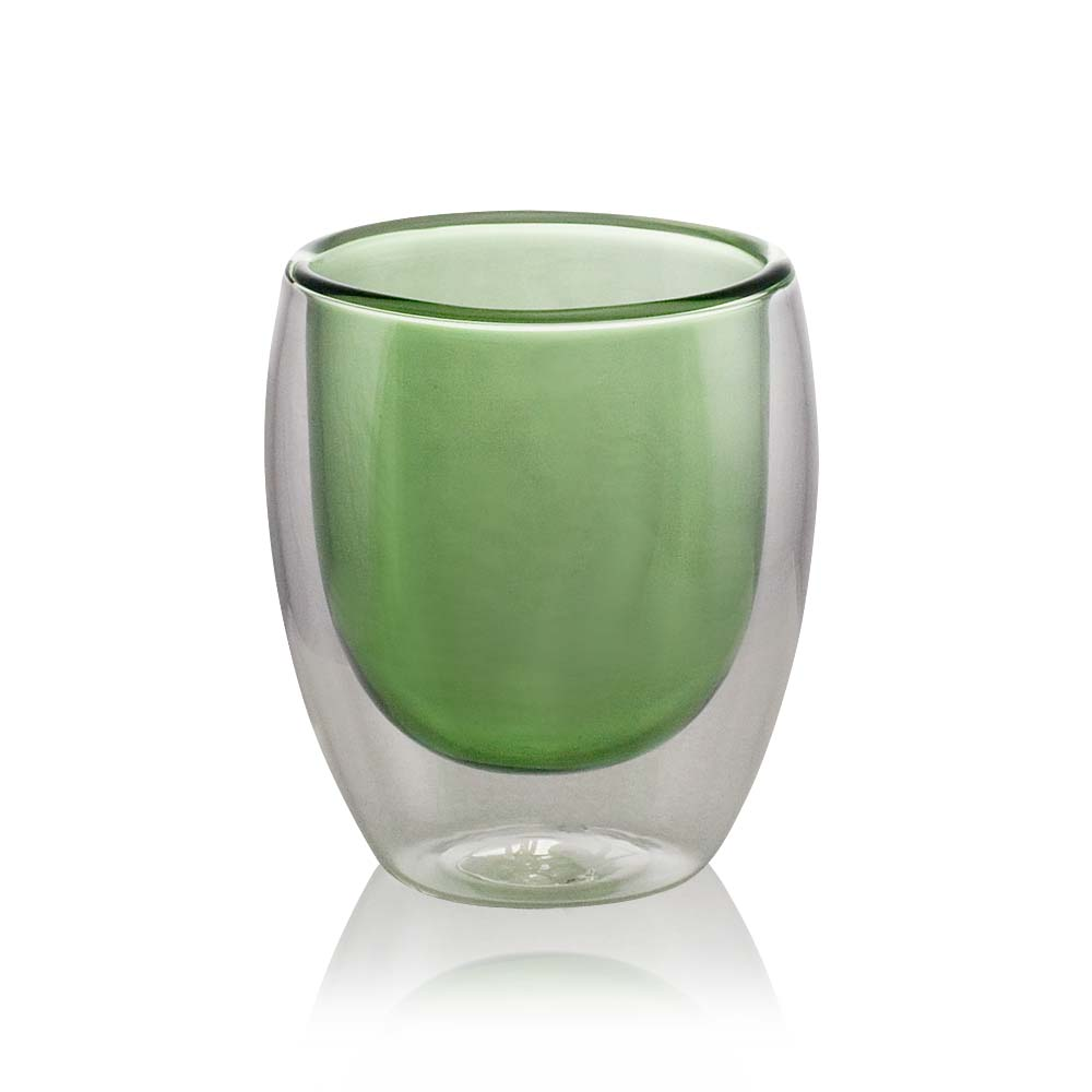 Glas Tassen Green Double Wall Glass Cup | Tea Cup