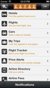 kayak mobile app