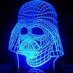 3D Star Wars Darth Vader Color-Changing LED Light Table Lamp