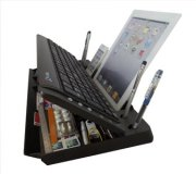 myKeyO 6-In-1 Full Size Bluetooth Keyboard with Stand and Organizer