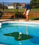 Putt-A-Bout Aqua Golf Floating Putting Mat, Green