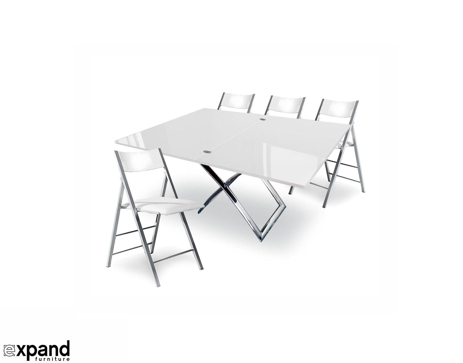 White Space Saving Table And Chairs Expand Modern Dining Table And Chairs Expand Furniture