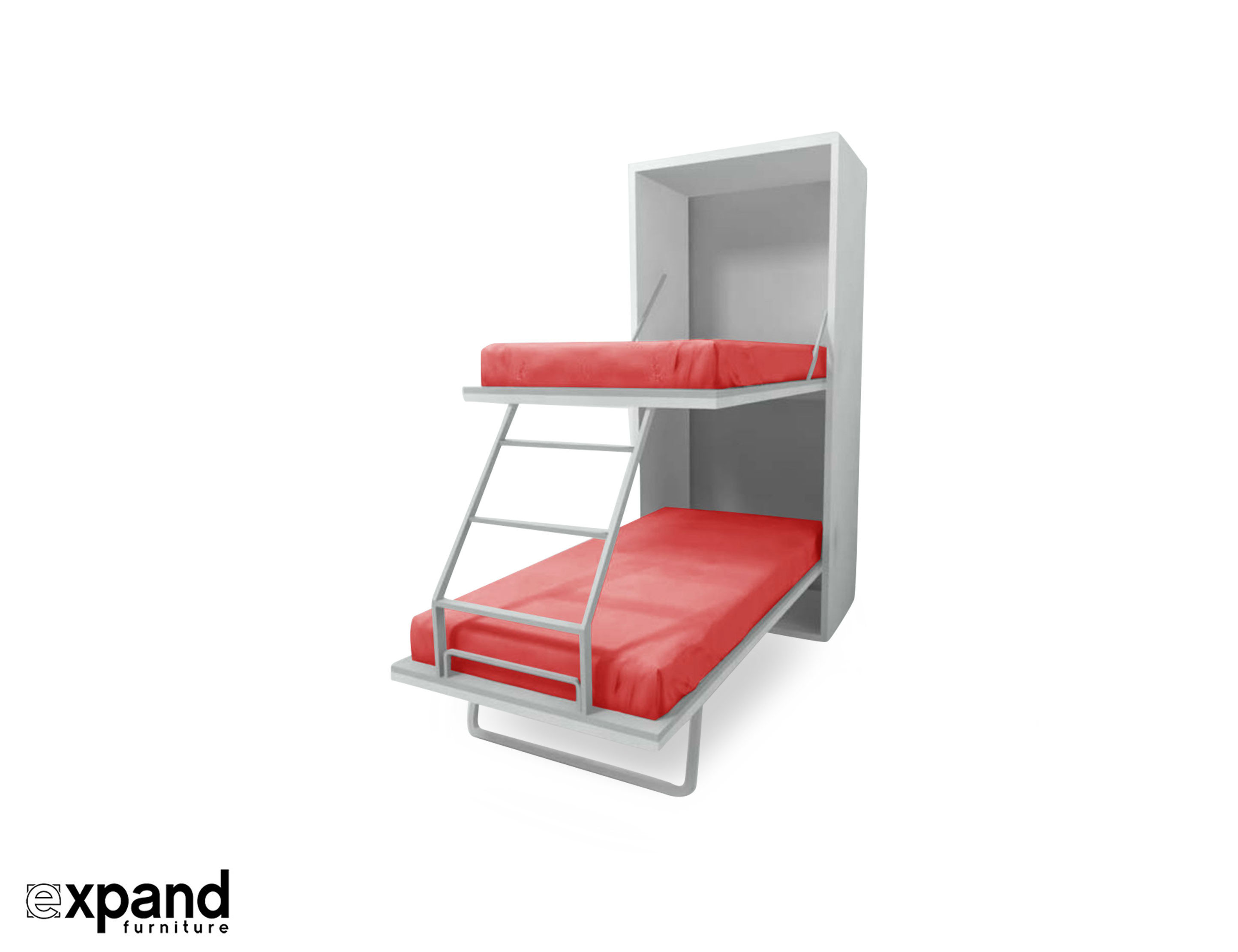 Compatto Hidden Vertical Murphy Bunk Beds Expand Furniture