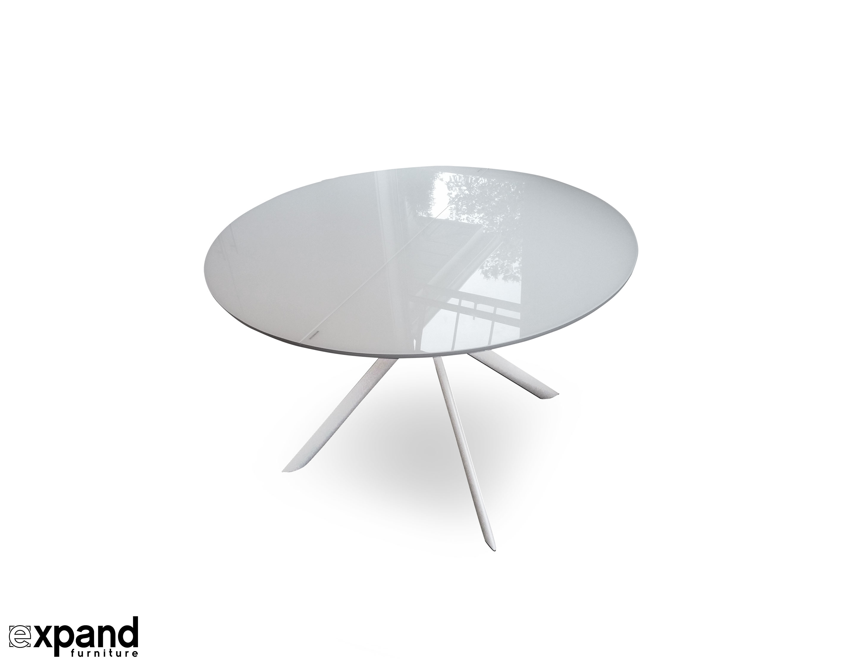Round Glass Dining Table Canada Tide Round To Elliptical Glass Kitchen Table