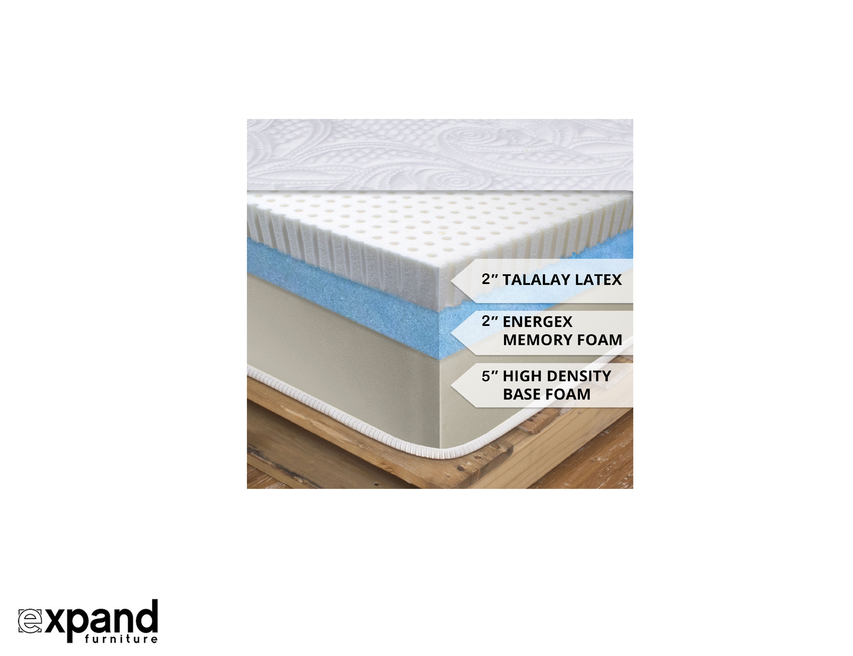 Foam Or Latex Mattresses Expand 10 Inch Natural Latex Mattress