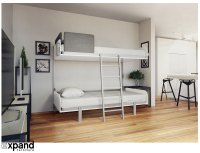 Hover - Compact Fold-Away Wall Bunk Beds | Expand ...