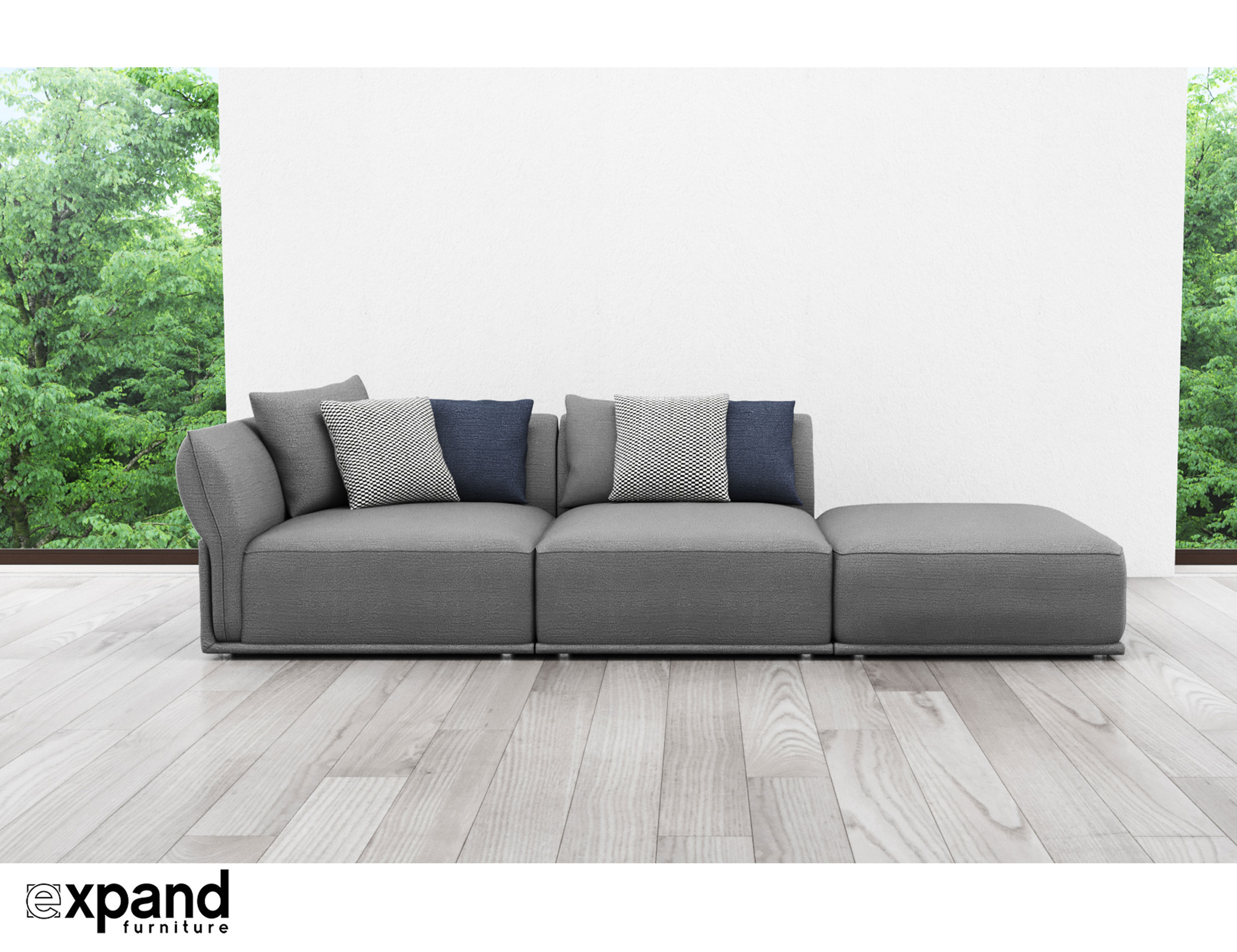 Sofa Modern Stratus Contemporary Sofa 3 Seat