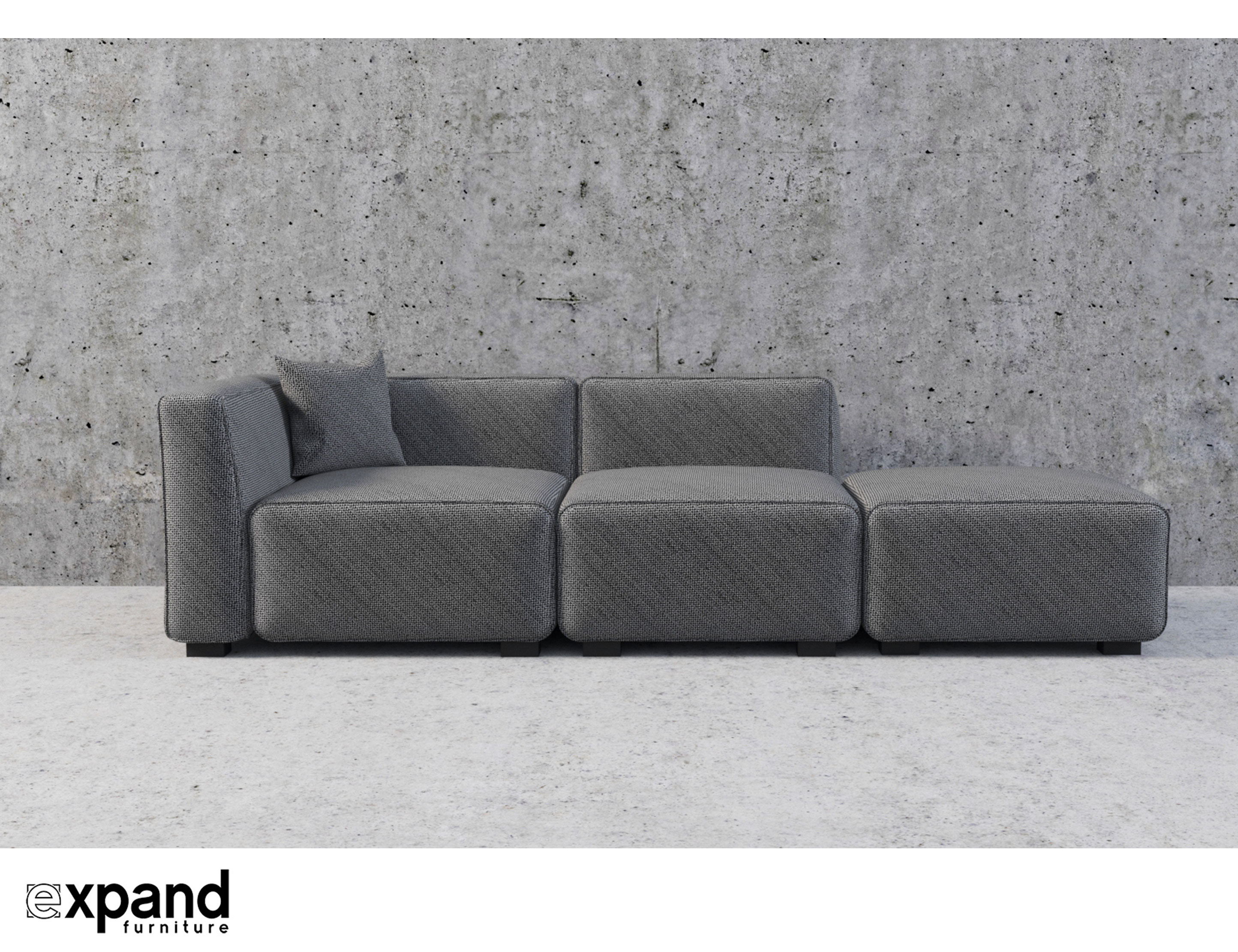 Modern Couch Soft Cube Contemporary Sofa 3 Seats