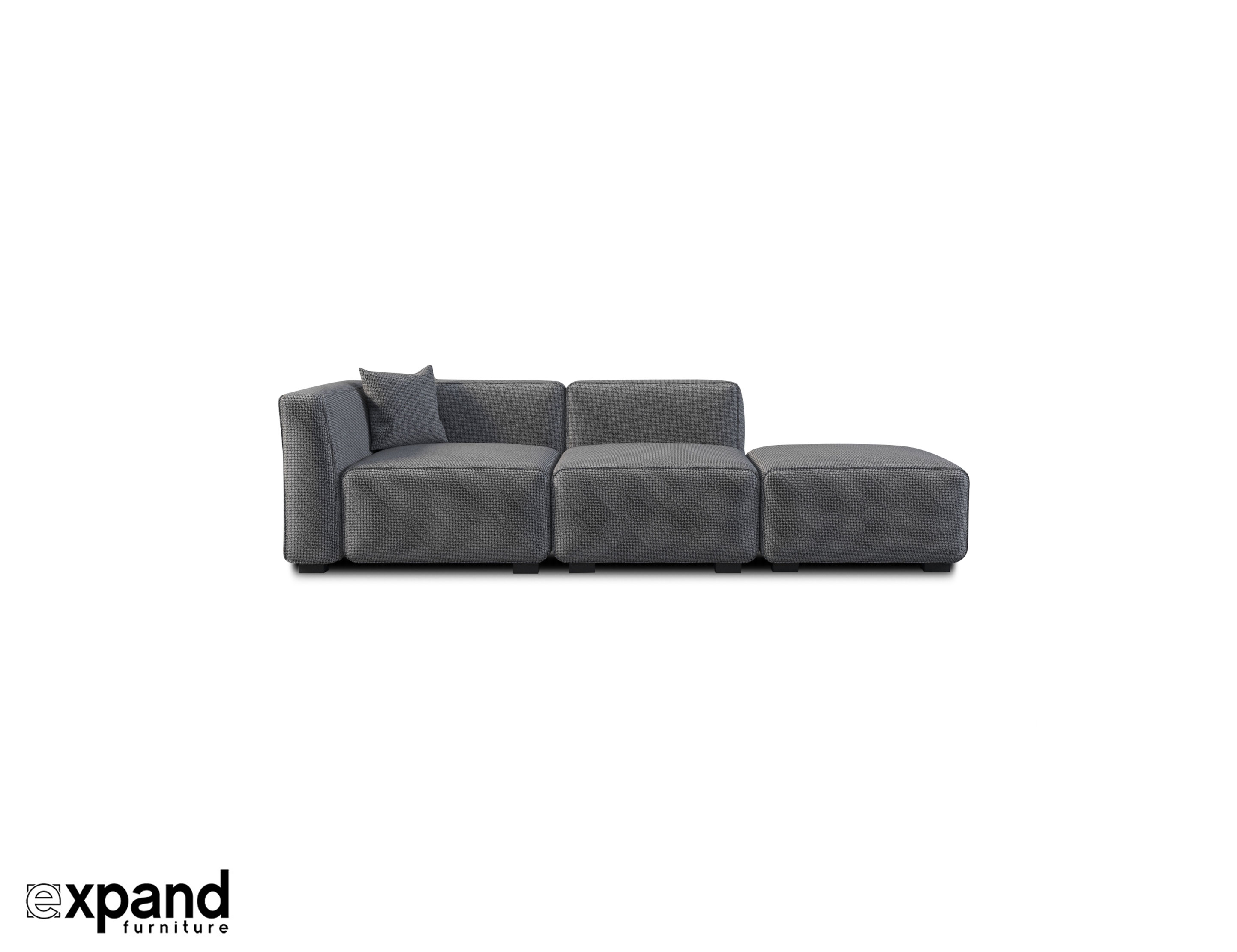 Sofa Module Soft Cube Contemporary Sofa 3 Seats