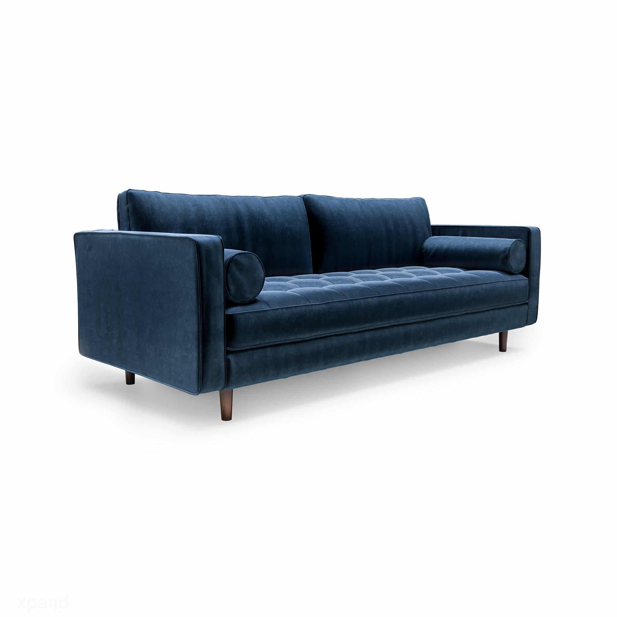Modern Couch Scandormi Modern Sofa Navy Blue Mid Century Tufted Couch