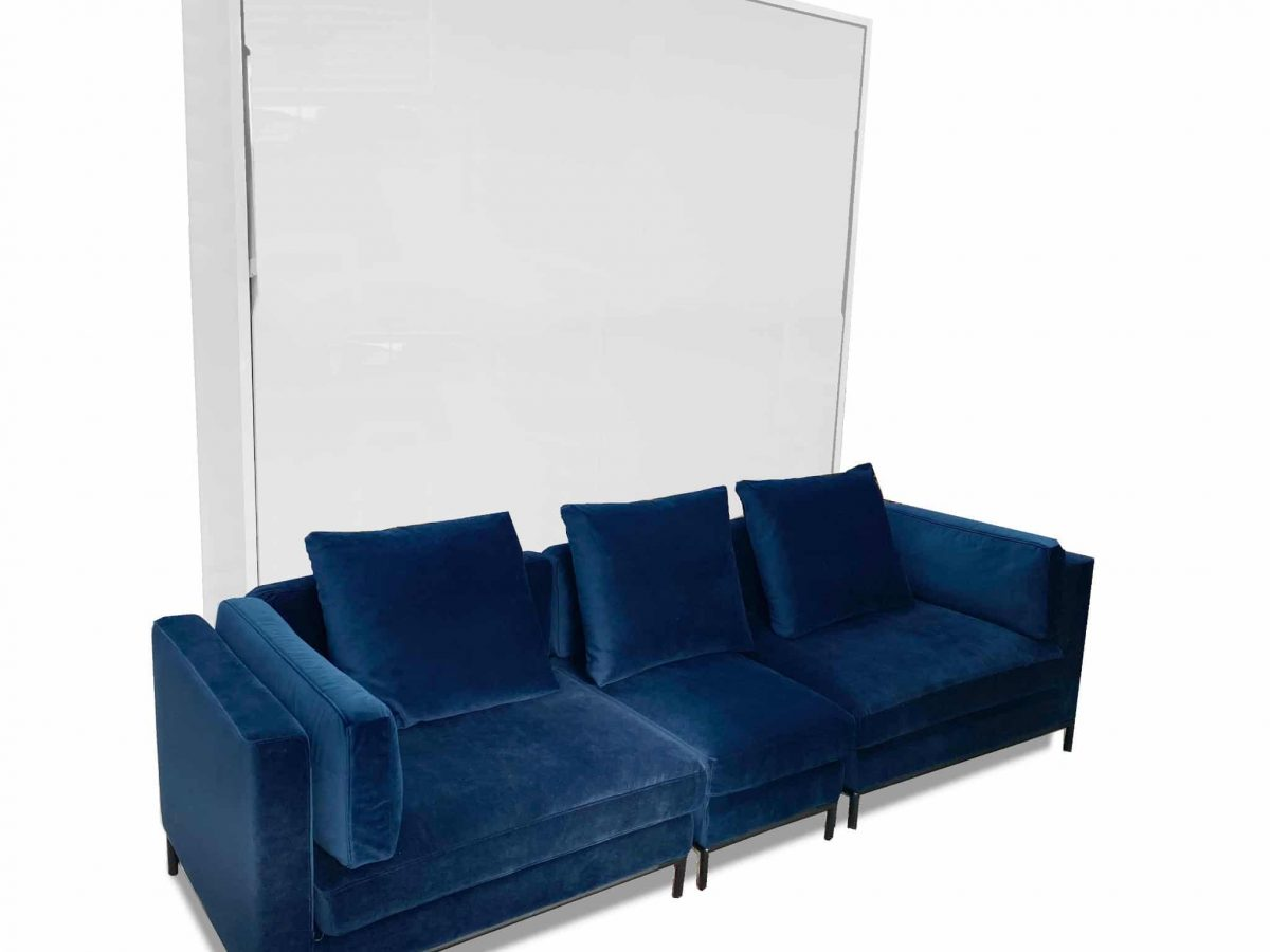 Murphysofa Navy Blue Migliore Modular King Size Wall Bed Sofa